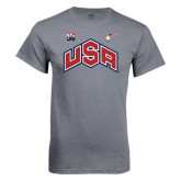 Charcoal T Shirt-USA Combo Mark