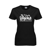 Ladies Black T Shirt-We R Family
