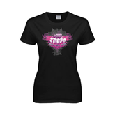 Ladies Black T Shirt-Motocross Mom