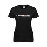 Ladies Black T Shirt-USA BMX w/Riders Between