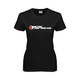Ladies Black T Shirt-Stacked BMX Canada w/Leaf