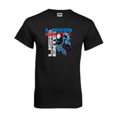 Black T Shirt-USA BMX w/2 Riders
