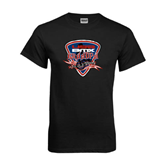 Black T Shirt-USA BMX Grandpa Shield