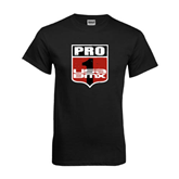 Black T Shirt-PRO 1 USA BMX Shield Distressed