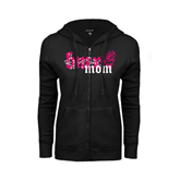 ENZA Ladies Black Fleece Full Zip Hoodie-BMX Mom