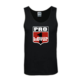 Black Tank Top-PRO 1 USA BMX Shield Distressed