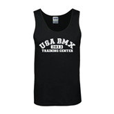 Black Tank Top-Arched USA BMX 2014 Training Center