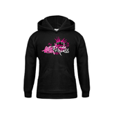 Youth Black Fleece Hood-Black BMX Princess Girls Rule