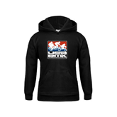 Youth Black Fleece Hood-Riders on Stacked USA BMX