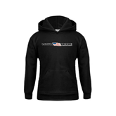 Youth Black Fleece Hood-USA BMX w/Flag In Between
