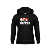 Youth Black Fleece Hood-Riders on Stacked BMX Canada