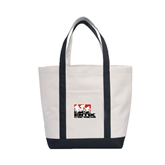 Contender White/Black Canvas Tote-Riders on Stacked BMX Canada
