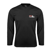 Syntrel Performance Black Longsleeve Shirt-Stacked BMX Canada w/Riders