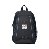 Impulse Black Backpack-Riders on Stacked USA BMX