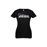 Youth Girls Black Fashion Fit T Shirt-Purple USA BMX Girl