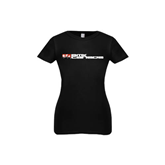 Youth Girls Black Fashion Fit T Shirt-BMX Canada w/Riders