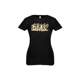 Youth Girls Black Fashion Fit T Shirt-USA BMX 5 Riders