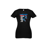 Youth Girls Black Fashion Fit T Shirt-USA BMX w/2 Riders