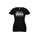 Youth Girls Black Fashion Fit T Shirt-We R Family