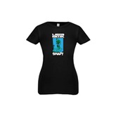 Youth Girls Black Fashion Fit T Shirt-USA BMX Snap!