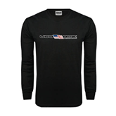 Black Long Sleeve TShirt-USA BMX w/Flag In Between