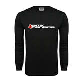 Black Long Sleeve TShirt-Stacked BMX Canada w/Leaf
