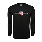 Black Long Sleeve TShirt-USA BMX w/Flag Shield