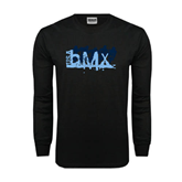 Black Long Sleeve TShirt-Royal USA BMX 5 Riders