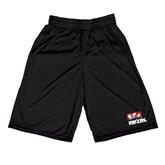 Midcourt Performance Black 9 Inch Game Short-Riders on Stacked BMX Canada