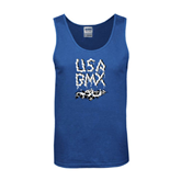 Royal Tank Top-Black USA BMX Chain Letters