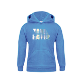 Youth Light Blue Fleece Hood-Flag on Stacked USA BMX