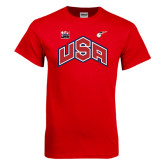 Red T Shirt-USA Combo Mark