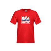 Youth Red T Shirt-Riders on Stacked USA BMX