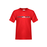 Youth Red T Shirt-USA BMX w/Flag In Between