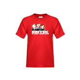 Youth Red T Shirt-Riders on Stacked BMX Canada