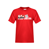 Youth Red T Shirt-Stacked BMX Canada w/Riders