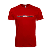 SoftStyle Red T Shirt-USA BMX w/Flag In Between