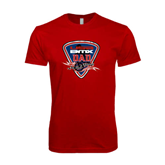 SoftStyle Red T Shirt-USA BMX Dad Shield