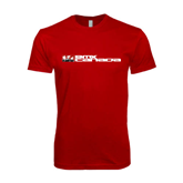 SoftStyle Red T Shirt-BMX Canada w/Riders