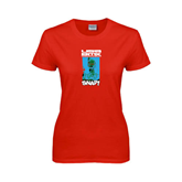 Ladies Red T Shirt-USA BMX Snap!