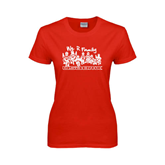 Ladies Red T Shirt-We R Family