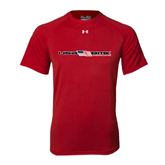 Under Armour Red Tech Tee-USA BMX w/Flag In Between