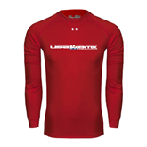 Under Armour Red Long Sleeve Tech Tee-USA BMX w/Riders Between