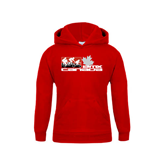 Youth Red Fleece Hood-Stacked BMX Canada w/Riders