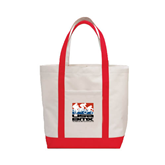 Contender White/Red Canvas Tote-Riders on Stacked USA BMX
