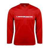 Syntrel Performance Red Longsleeve Shirt-USA BMX w/Riders Between