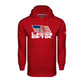 Under Armour Red Performance Sweats Team Hood-Flag on Stacked USA BMX