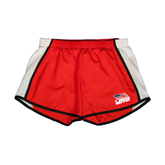Ladies Red/White Team Short-Flag on Stacked USA BMX