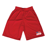 Midcourt Performance Red 9 Inch Game Short-Flag on Stacked USA BMX