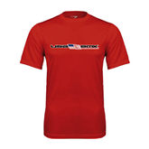 Syntrel Performance Red Tee-USA BMX w/Flag In Between
